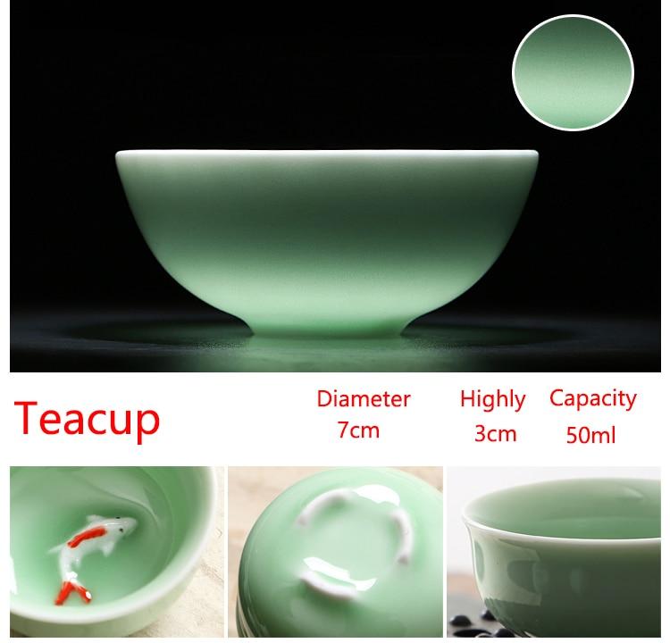 wholesaleaji me shumicë kineze Celadon vendos 6 copë çaji 1 copë - Kuzhinë, ngrënie dhe bar - Foto 3