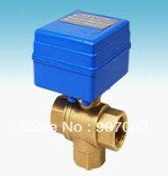 Бесплатная Доставка 5 шт./лот Г/3/4 »CWX-20 3 ходовой Шаровой Клапан ДУ20 Электрический Шаровой кран CR01 или CR02 Управления тип КЛАПАНА 12VDC