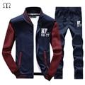 Mens SportSuit Sportswear Moda Outono Homens Ternos Basculador Homens SportSuit Roupas Tracksuits Camisolas Masculinos Para Homens Quentes 2016