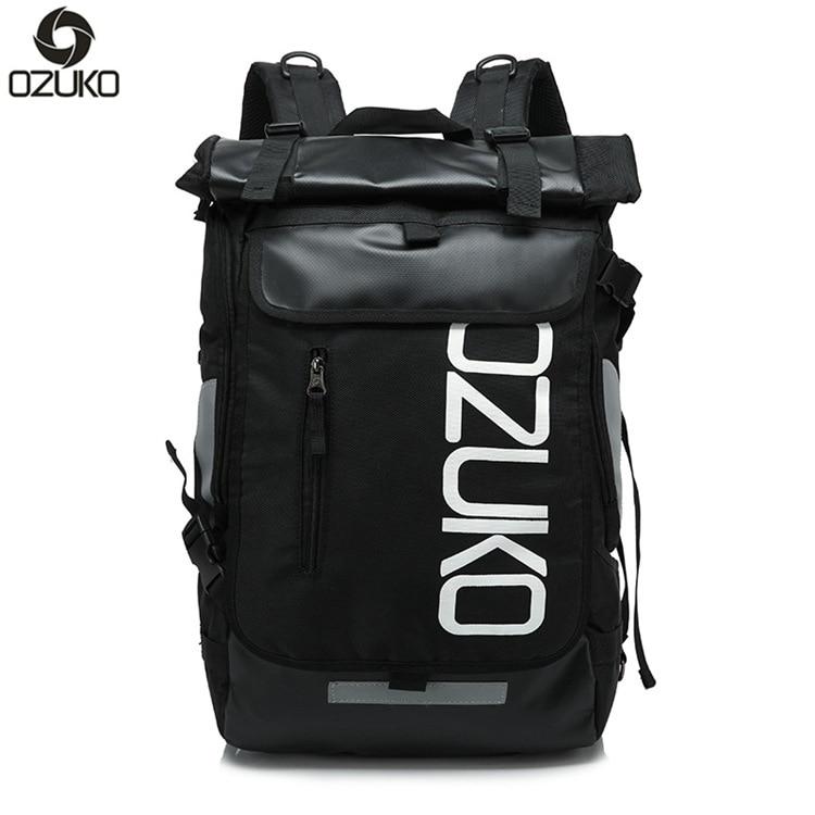 Ozuko New Oxford Cloth Backpacks Fashion Men's Bag Korean Version of The Creative Shoulder Travel Backpack Female Casual Bag цена 2017