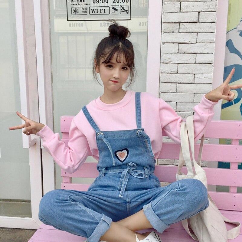 Button Suspender Strap Kuma Cute Bear Pocket Cartoon Japan Lolita Kawaii Girl Wide Straight Cargo Denim Short Jumpsuit Overalls Bottoms