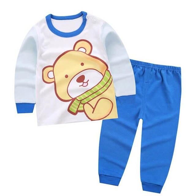 40bf1cdce placeholder Pijamas do sono do bebê set roupas para o menino menina  crianças pijama infantil camisa de