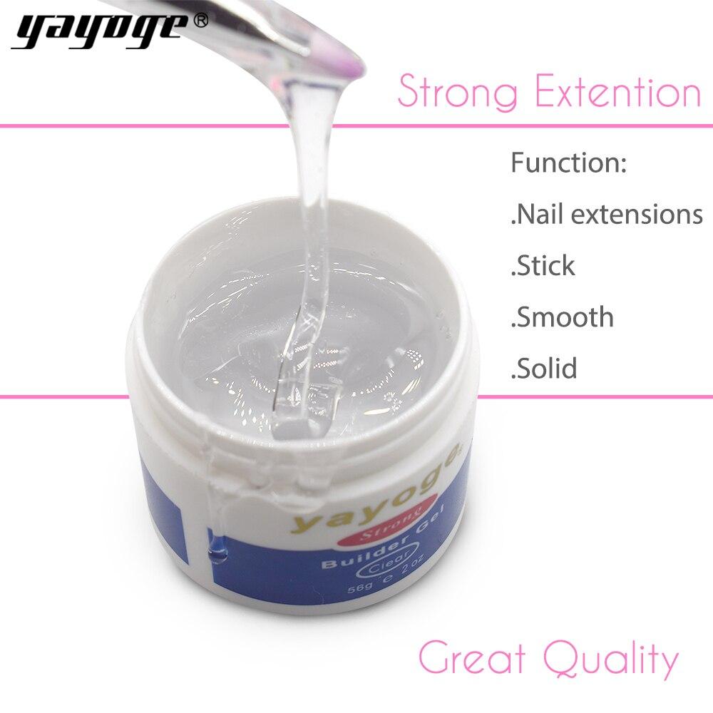 Yayoge 56 ml 7 farben harz builder gel set nagellack kunst durch uv led trockner lampe Für nagel erweiterung