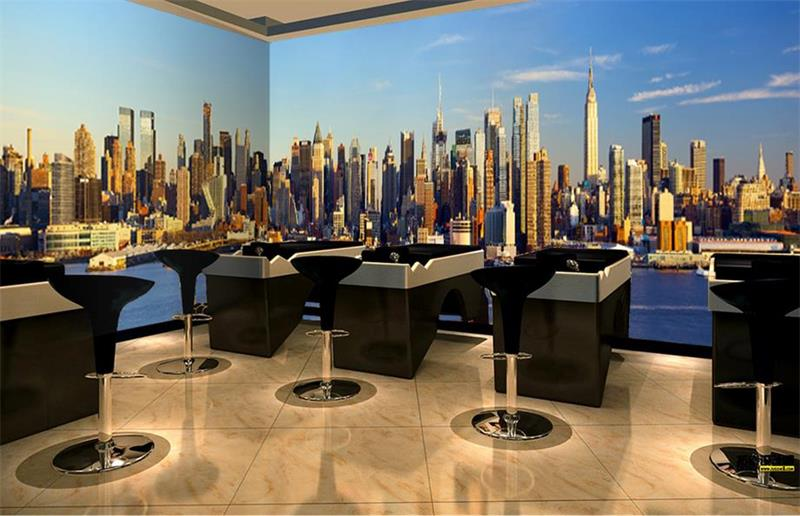 3d photo wallpaper custom room non-woven mural New York City Scenery Photo KTV bar office background wall wallpaper for wall 3d free shipping custom modern 3d mural bedroom living room tv backdrop wallpaper wallpaper ktv bars statue of liberty in new york