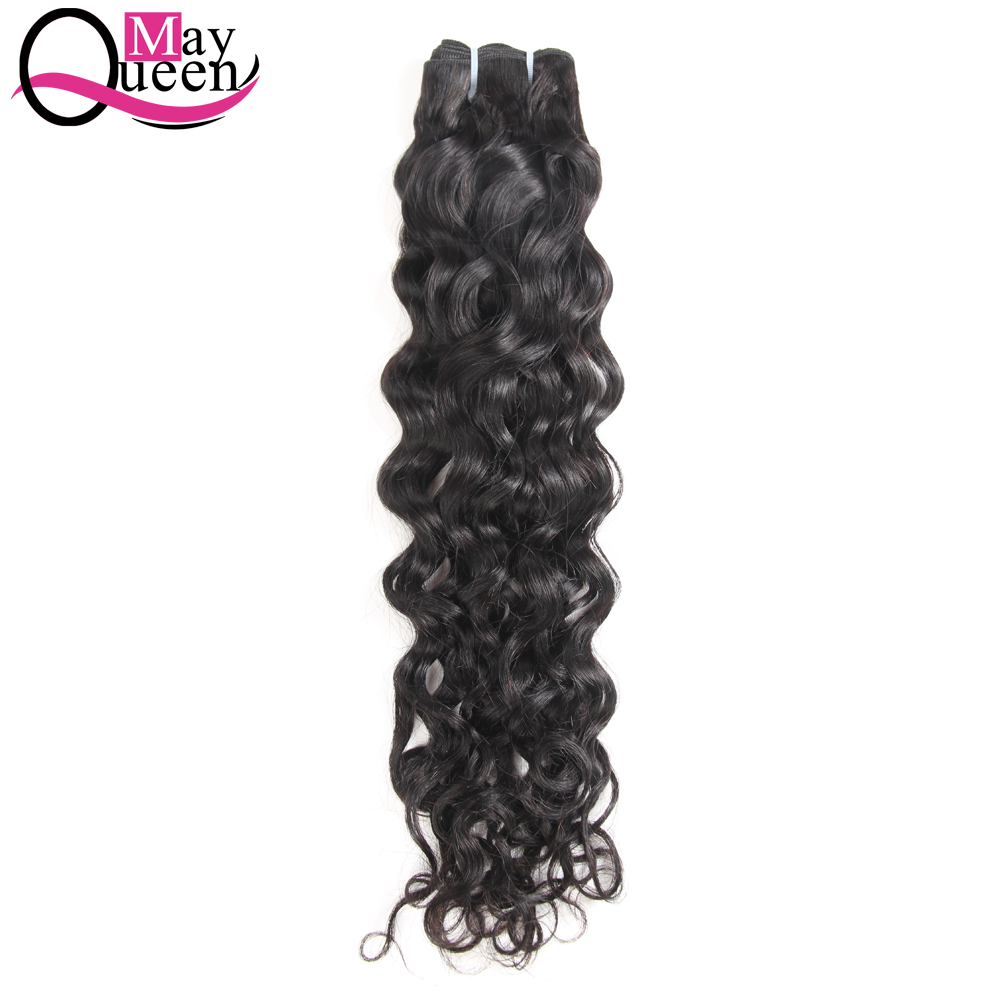 May Queen Hair 8-28Inch 1Piece Brazilian Water Wave Human Hair Weave Bundles Can Mix Hair Extensions Non Remy Hair Double Weft