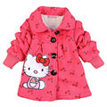 2016 Fashion Children's coats girls Hello Kitty winter warm coat children cotton jacket thick cotton-padded clothes