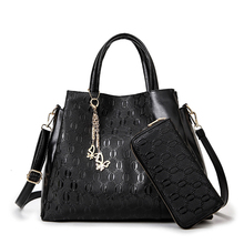 ITSCOSY 2017 New Ladies Bag PU Leather Handbags with Wallet 2 Piece Set Bags Handbag with Wallet
