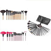 High Quality Makeup Brush Kit 24 Pcs Wood Pro Brushes Black Beauty Tools Personality Wooden Handle