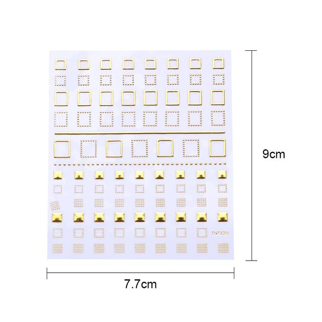 Geometric 3D Nail Stickers Gold Moon Star Wave Line DIY Transfer Stickers Nail Art Decoration Nail Set Nail Art Manicure Design