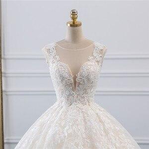 Image 4 - Fansmile Vestidos de Novia Vintage, novedad del 2020 en Vestidos de gala de tul, vestido de boda de princesa de encaje de calidad, vestido de Novia de boda FSM 522F