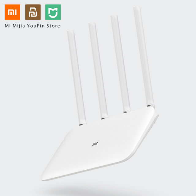 Original Xiaomi Mi WiFi Router 4 WiFi Repeater APP Control 2,4G 5GHz 128MB DDR3 1200 Dual Band Dual core 880MHz Wireless Router