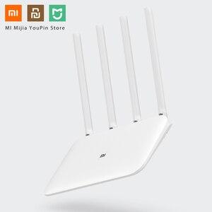 Image 1 - Oryginalny Xiaomi Mi Router WiFi 4 WiFi Repeater APP sterowania 2.4G 5GHz 128MB DDR3 1200 dwuzakresowy dwurdzeniowy 880MHz Router bezprzewodowy