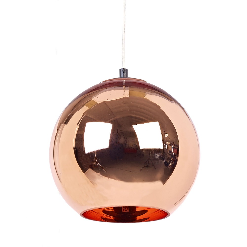 Modern Mirror Glass Copper Ball Pendant Lights For Bedroom Kitchen Living Room E27 220V Industrial Lighting Bar Lampara Vintage new arrival vintage pendant lamp modern retro industrial pendant lights for restaurant bar living room bedroom 220v e27 holder