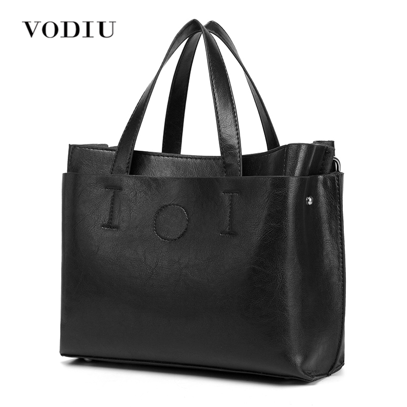 Women's Messenger Shoulder Bag Handbag Over Tote Big Sling Leather Black Designer Female Bolsas Crossbody Women Top-handle Bags women bags genuine leather tote over shoulder sling messenger crossbody tote fringe tassel big luxury designer female handbags