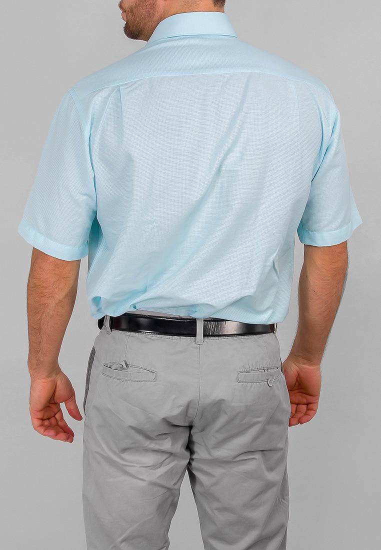 Shirt men's short sleeve GREG 415/309/572 Turquoise v neck flower and bird print plus size short sleeve men s t shirt