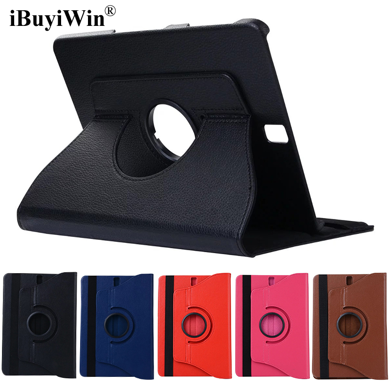 iBuyiWin 360 Rotating Case Flip Stand Smart Cover PU Leather Case for Samsung Galaxy Tab S3 9.7 T820 T825 Tablet Fundas+Film+Pen luxury folding flip smart pu leather case book cover for samsung galaxy tab s 8 4 t700 t705 sleep wake function screen film pen
