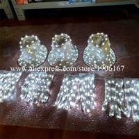 Led Luminous Flashing Magic Hat Gloves Stage Performance DJ DS Party Event Supples Illuminated Dress Nightclub Bar Led Props
