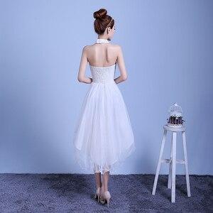 Image 5 - ZX D48BS #2019 nieuwe zomer korte lang voordat na shortparagraph bruid bruidsmeisje jurken trouwjurk meisjes vrouwelijke toast Wit