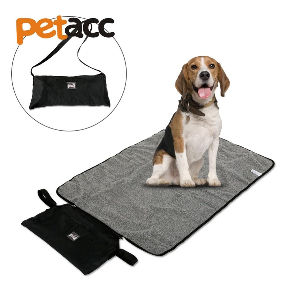 Petacc 2Colors Waterproof Multi-function Foldable Pet Mat Blanket Warm Pets Blanket Portable Pet Mat with Storage Bag