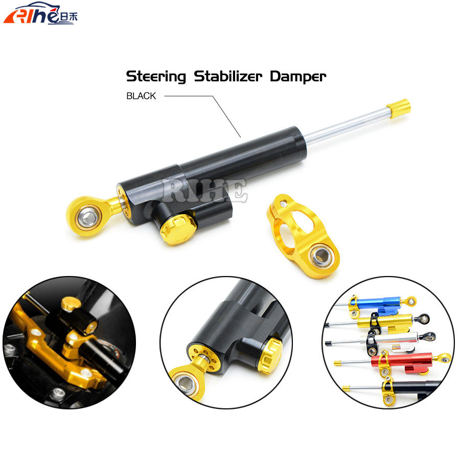 Steering Damper Universal Motorcycle CNC Stabilizer Linear Reversed Safety Control for Yamaha yzf r3 r25 r1 r125 r6 r25 honda fxcnc aluminum universal cnc adjustable steering damper motorcycle stabilizer linear reversed safety control black