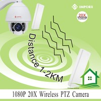 Pan Tilt Zoom High Speed Dome Security PTZ Camera IP Outdoor with 20X Optical Zoom Color ip camera wifi