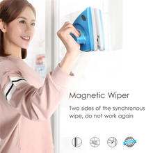 Escova de limpeza de vidro da janela magnética do lado dobro handheld para a limpeza de janelas escova de superfície de vidro do líquido de limpeza para a cozinha do banheiro
