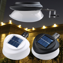 1X/2X/4X 9LEDs Waterproof Super Bright Solar LED Fence Light Outdoor Garden Pathway Wall Lamp D35