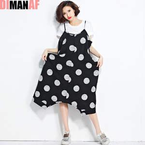 b71bb672704 DIMANAF Plus Size Women Dress Summer Casual Black Lady