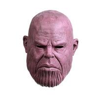 Танос Мстители эндшпиль Косплэй маска супергерой Мстители танос Латекс Хэллоуин вечерние танос шлем полного аксессуары