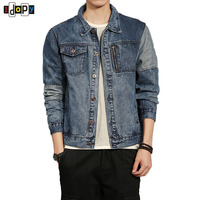 Simple Mens Denim Jackets Classic Style Washed Vintage Clothing Cotton Cool Jean Outerwear For Men