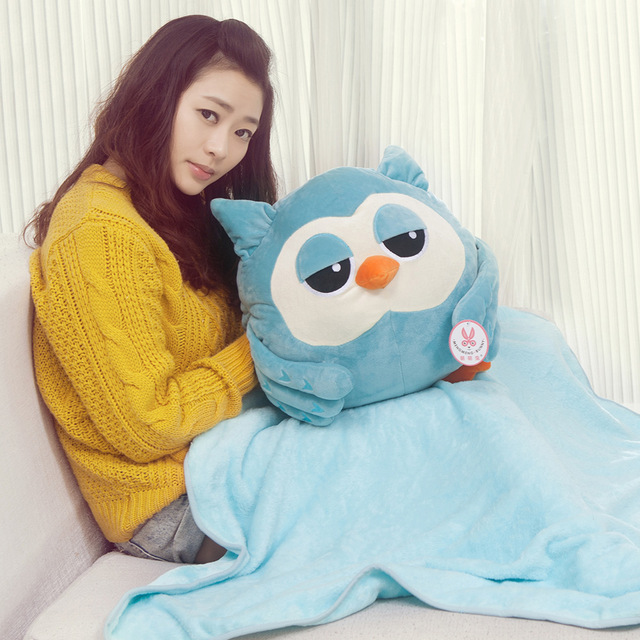 Candice guo plush toy stuffed doll the Heirs Korean TV dramas cute owl air condition nap blanket hand warmer pillow cushion gift candice guo plush toy stuffed doll cartoon reindeer pillow elk cushion deer air condition warm blanket baby birthday gift 1pc