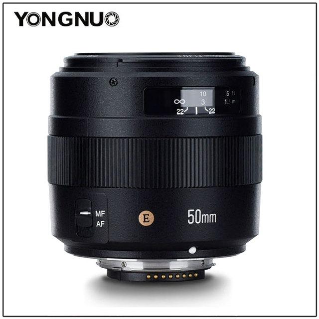 Объектив YONGNUO YN50MM 50 мм F1.4N F1.4 E Standard Prime, AF/MF для Nikon D7500 D7200 D7100 D7000 D5600 D5500 D5300 D5200 D5100