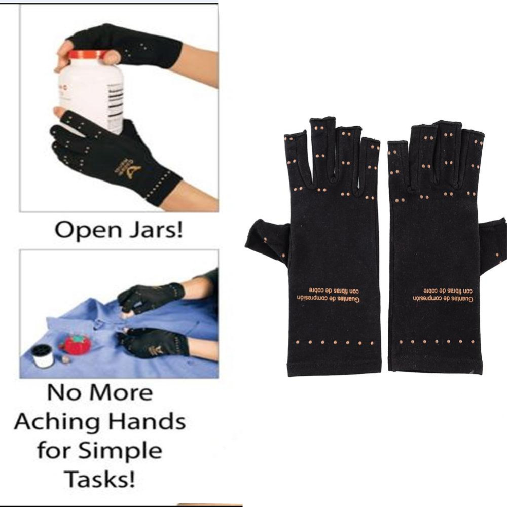Driving gloves for arthritic hands - New Unisex Magnetic Arthritis Gloves Relief Therapeutic Compression Black