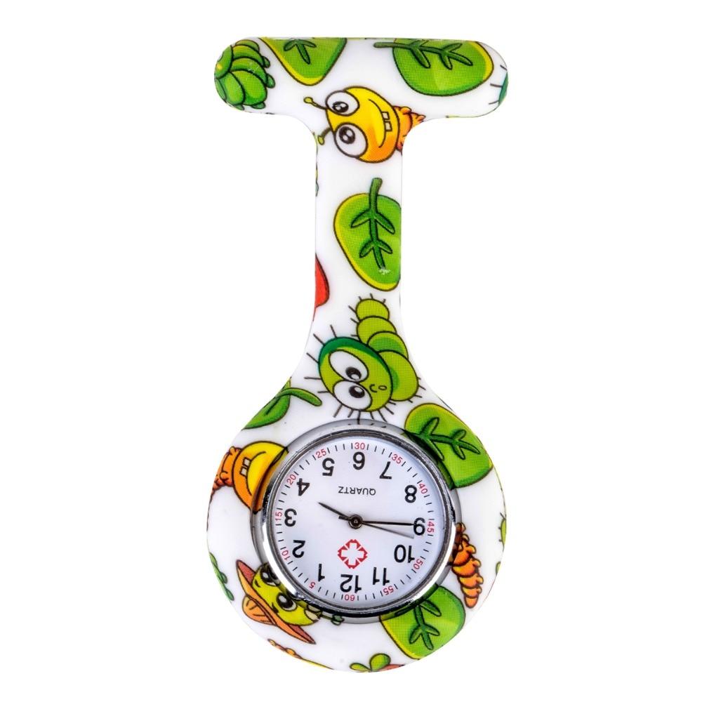 Shellhard Fashion Prints Kolorowe zegarki pielęgniarek Przenośny - Zegarki kieszonkowe - Zdjęcie 4