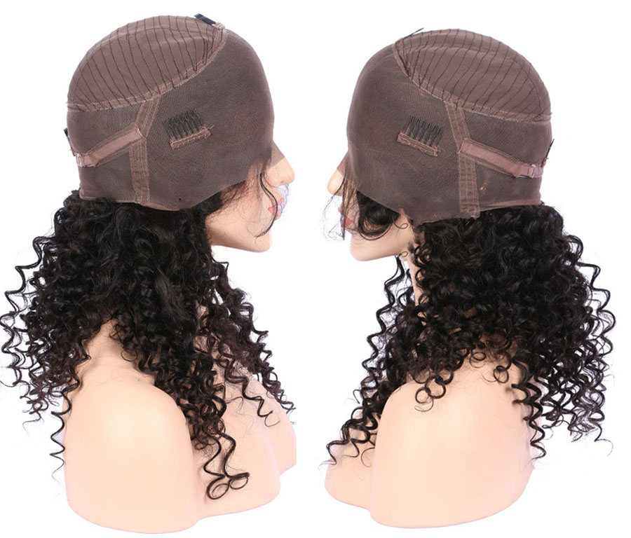 ALICE 360 Frontal Wig Bleacked Knots Brazilian Curly Human Hair Wigs  (3)