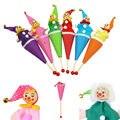 1 Шт. Smiley Face Клоун Кукольный Игрушка Белл Скрыть Искать Всплывающие Телескопические Детские Развивающие Игрушки Дети Подарки Стили Случайным
