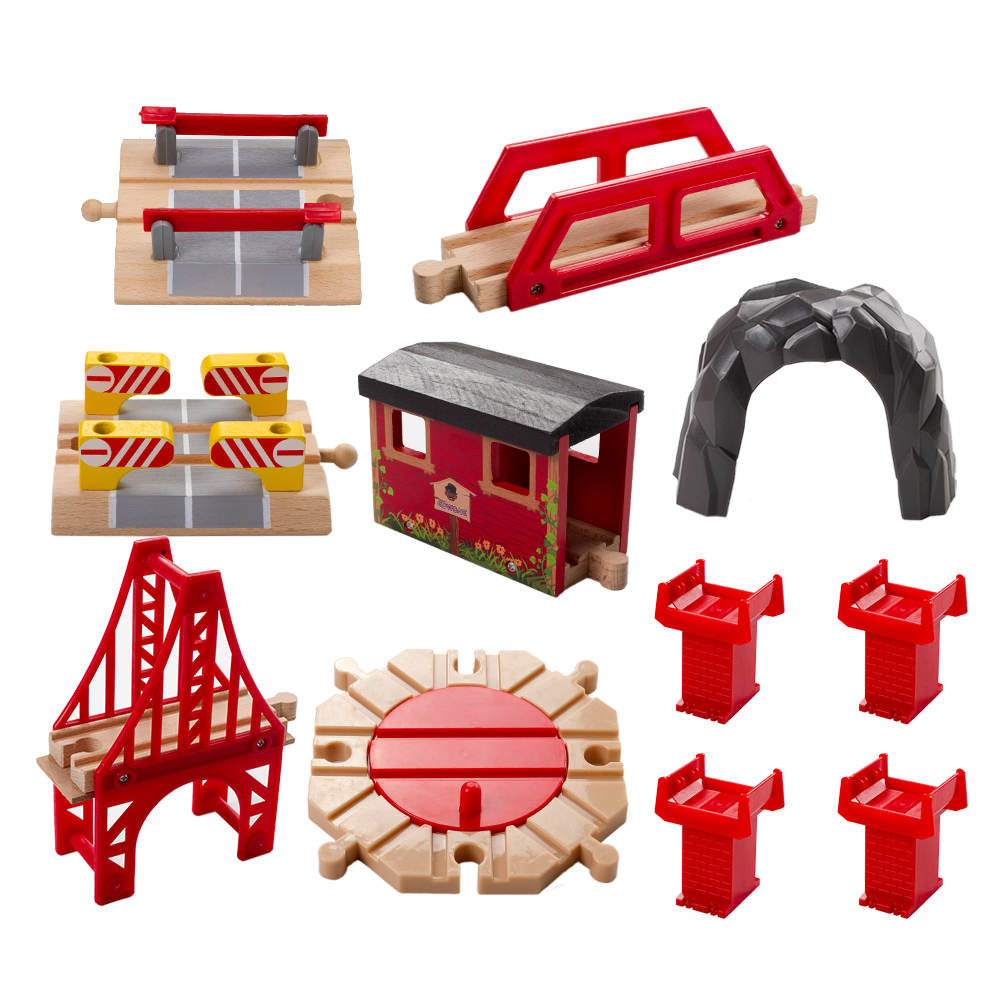 11pcs lot Special Wooden Tomas and Friends Railway Train Track Toys For baby