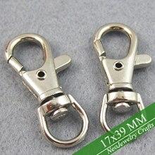 Rhodium Mạ Chìa Khóa, Snap Hook Clip Xoay Khóa để Làm Móc Chìa Khóa, phù hợp với cổ bạc hoặc thép không gỉ Mặt dây chuyền