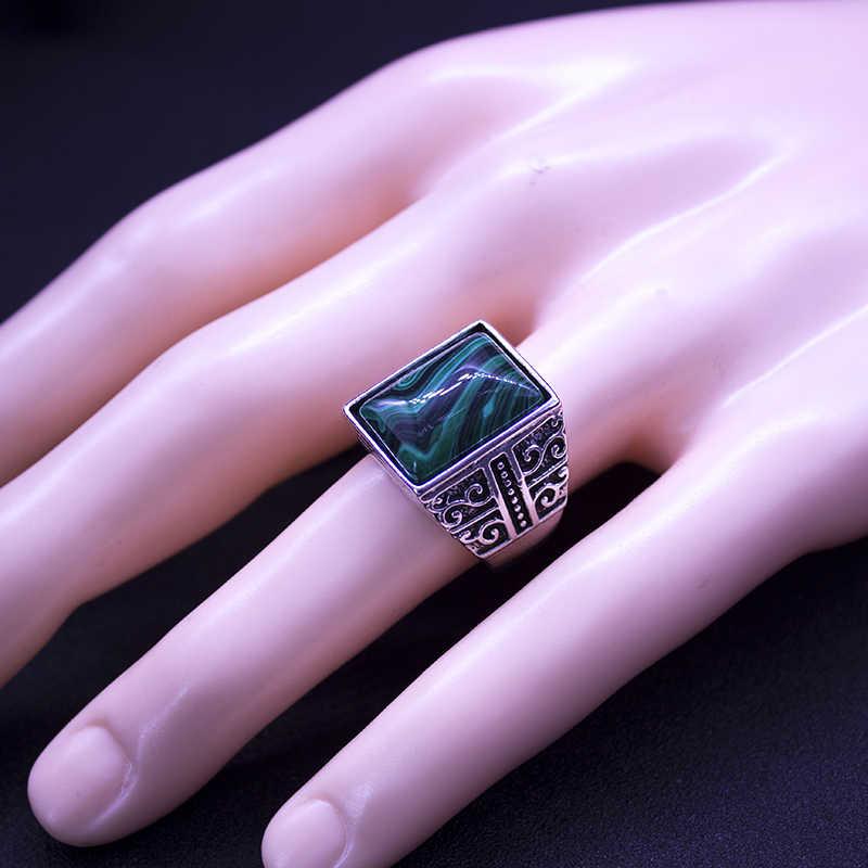 การออกแบบใหม่ล่าสุดสแควร์แหวนหินและผู้หญิงแฟชั่น Silver Plated แหวนเครื่องประดับขนาดใหญ่ชายของขวัญงานแต่งงานแหวน