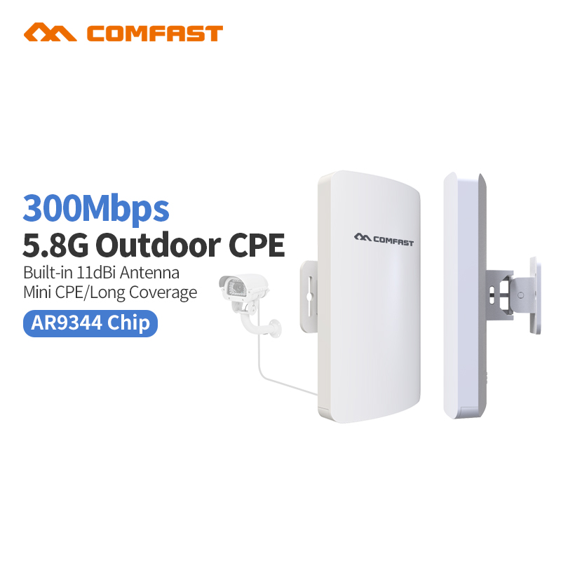 10pcs DHL free Mini Comfast CF-E120A 5G Wireless Outdoor CPE WIFI Router 300Mbps Wireless Access Point CPE Router Bridge cpe arderia cpe 25 5a
