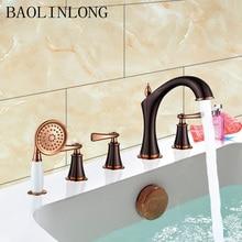 BAOLINLONG Classic Styling Brass bathroom shower faucet Bathtub Faucet tap bath shower set waterfall bathtub sink faucet water