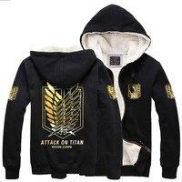 Thicken Shingeki no Kyojin Attack on Titan Eren Jager Giant berber fleece gilding jacket hoodie