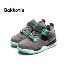 Bakkotie 2017 Fashion Leather Spring Autumn Baby Boy Casual Shoe Kid Brand Walking Sneaker Children Sports Shoe Toddler Black