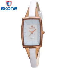 Skone rectangle montre femmes robe montre de mode bracelet en cuir horloge pour dames femme drop shipping