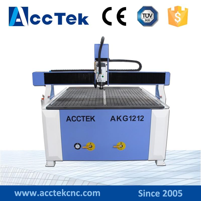 AKG1212 gros tour à CNC MDF contreplaqué aluminium CNC routeur 4 axes fabriqué en chine avec un prix raisonnable à grande vitesse