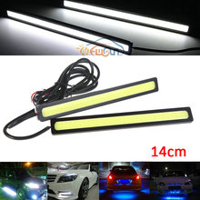2PCS/pair Ultra-thin 20W COB Chip 14CM LED Daytime Running Light LED DIY DRL Fog lights car day running drl lights Waterproof