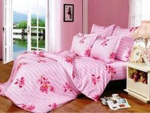 Комплект постельного белья семейный СайлиД, А, розовый, с узором