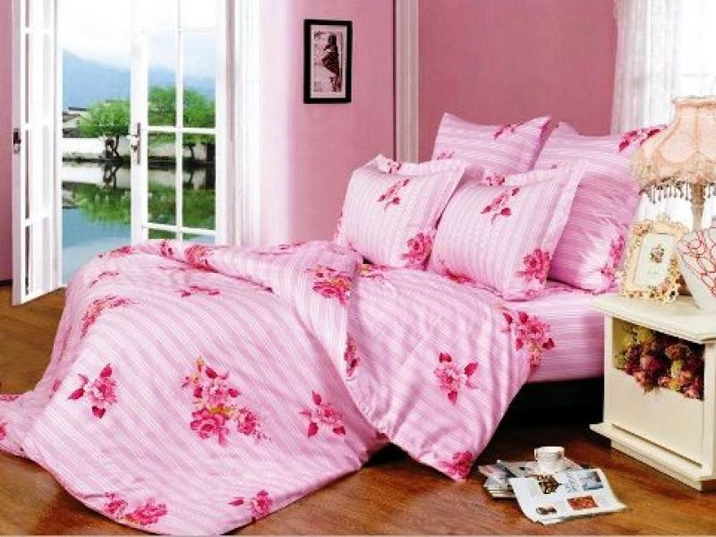 Bedding Set family СайлиД, A, pink, with pattern sexy stripe pattern bikini set with knot in blue