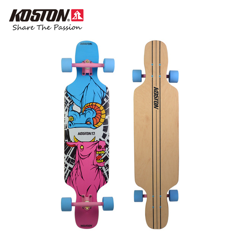 KOSTON Professional Longboard Completes 41 Inch 8ply Canada Maple Pressed Carving Skateboard Long City Cruising Skateboard Set скейт hudora cruisestar carving & cruising red