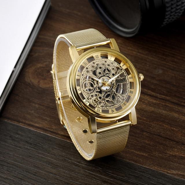 SOXY - Silver & Gold Luxury Hollow Steel Watch 3